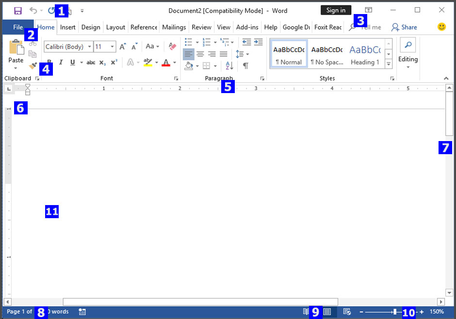More about Microsoft Word 2016 Interface Image